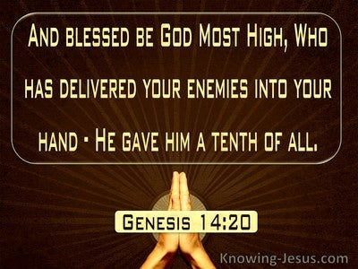 Genesis 14:20 Blessed Be God Most High (brown)