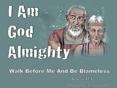 Genesis 17:1 I Am God Almighty Walk Before Me And Be Blameless (sage)
