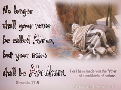 Genesis 17:5 No Longer Shall Your Name Be Called Abram (pink)