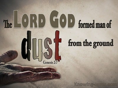 Genesis 2:7 The Lord God Formed Man From The Dust (beige)