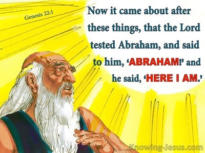 Genesis 22:1 God Tested Abraham (yellow)
