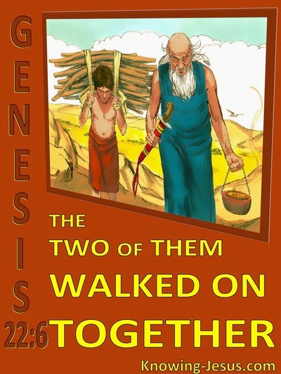 Genesis 22:6 Abraham And Isaac Walked On Together (red)