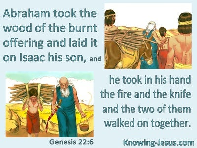 Genesis 22:6 Abraham And Isaac Walked On Together (sage)