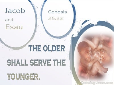 Genesis 25:23 The Older Shall Serve The Younger (beige)