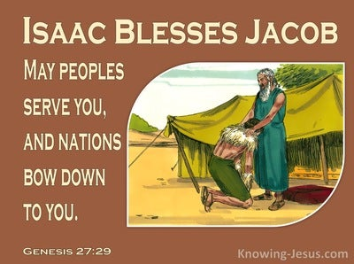 Genesis 27:29 May Peoples Serve You (brown)