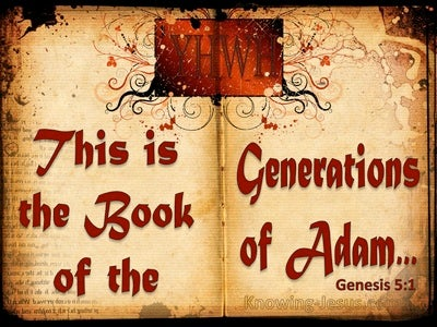 Genesis 5:1 The Generations Of Adam (red)