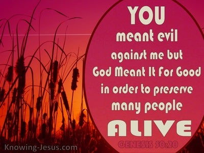 Genesis 50:20 Good From Evil (red)