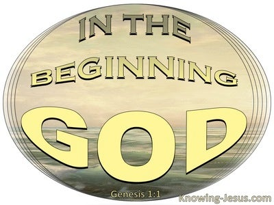 Genesis 1:1 In The Beginning God (gold)