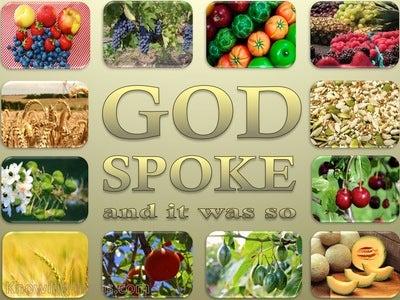 Genesis 1:11 Let The Earth Sprout Vegetation (beige)