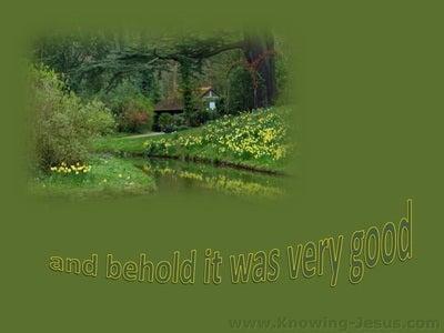 Genesis 1:31 It Was Very Good (green)