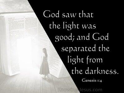 Genesis 1:4 God Saw The Light Was Good (gray)