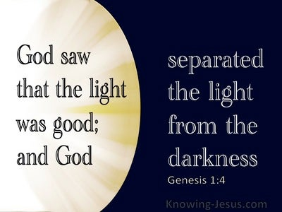 Genesis 1:4 God Saw The Light Was Good (navy)