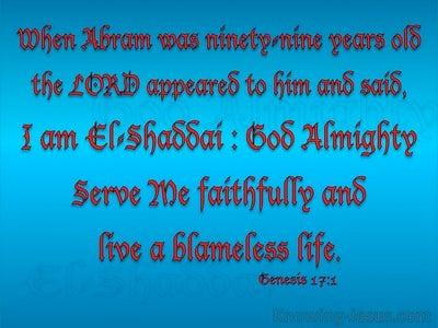 Genesis 17:1 El Shaddai God Almighty (red)