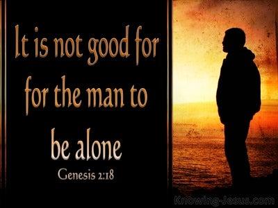 Genesis 2:18 I Will Make Him A Suitable Helper (black)