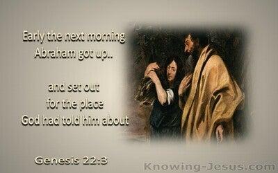 Genesis 22:3 Abraham Obeyed God (brown)