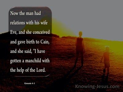 Genesis 4:1 Now The Man Had Relations With His Wife Eve (brown)