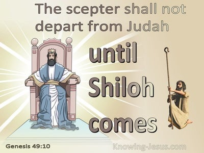 Genesis 49:10 The Scepter Shall Not Depart From Judah (brown)