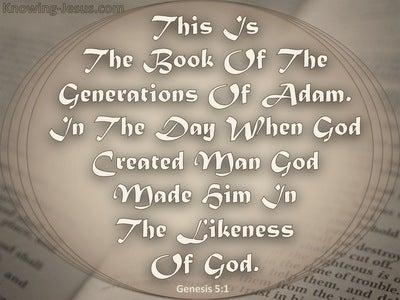 Genesis 5:1 The Generations Of Adam (gray)