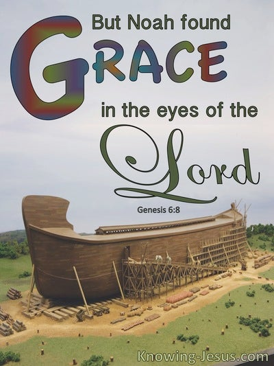 Genesis 6:8 Noah Found Grace In The Eyes Of The Lord (blue)