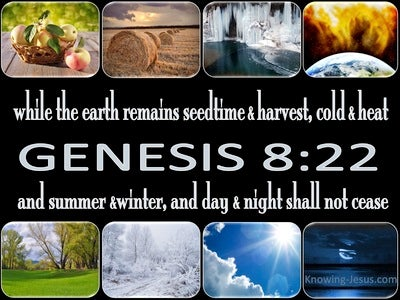 Genesis 8:22 While The Earth Remains (blue)