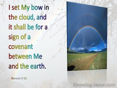Genesis 9:13 I Do Set My Bow In The Cloud (blue)