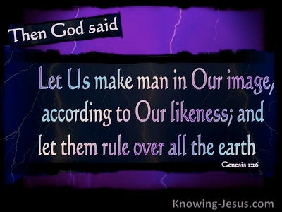Genesis1-26 Let Us Make Man In Our Image (purple)