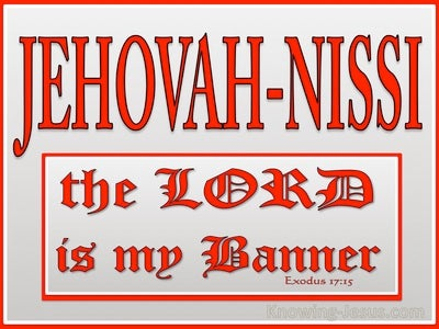 Exodus 17:15 The Lord Is My Banner (red)