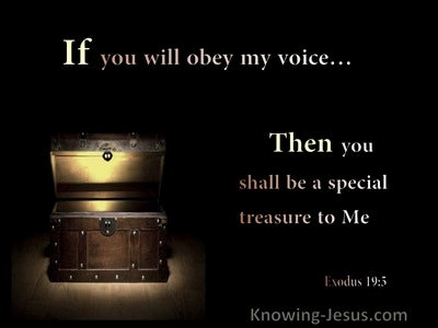 Exodus 19:5 If You Obey My Voice Then You Will Be A Special treasure To Me (yellow)