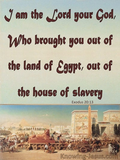 Exodus 20:2 The Lord Your God  Out Of Egypt (blue)
