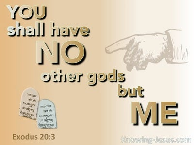 Exodus 20:3 No Other Gods But Me (orange)