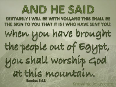 Exodus 3:12 Certainly I Will Be With You (green)
