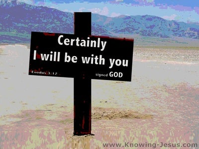 Exodus 3:12 I Will Be With You (blue)