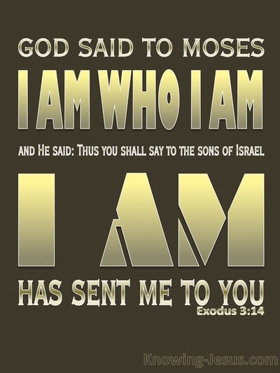 Exodus 3:14 God Said I AM That I AM (brown)