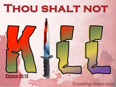 Exodus 20:13 Thou Shalt Not Kill (red)