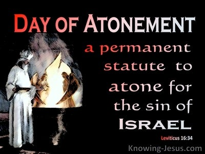 Leviticus 16:34 A Permanent Statue To Atone For Sin (red)