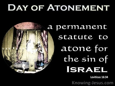 Leviticus 16:34 A Permanent Statue To Atone For Sin (white)