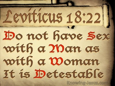 Leviticus18-22 You Must Not Have Sex Relations With A Male (beige)