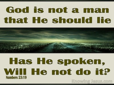 Numbers 23:19 God Has Spoken (green)