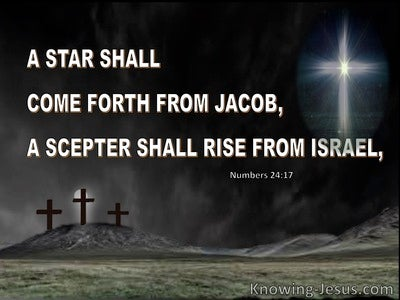 Numbers 24:17 Jacob Rise From Israel : Jacob (white)
