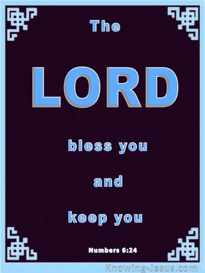 Numbers 6:24 The Lord Bless You (blue)