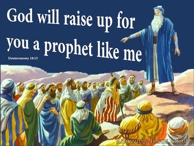 Deuteronomy 18:15 The Lord Will Raise Up A Prophet (blue)