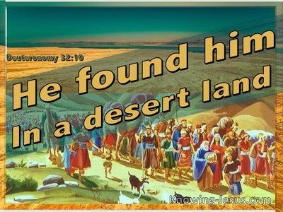 Deuteronomy 32:10 He Found Him In A Desert Land (orange)