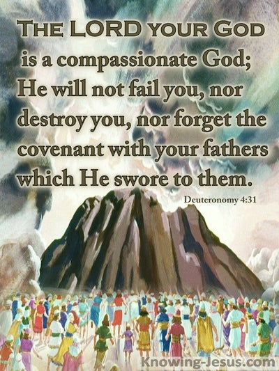 Deuteronomy 4:31 The Lord Your God Is Compassionate (brown)