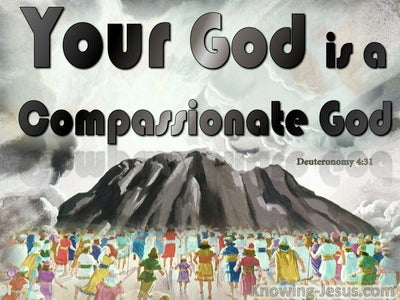 Deuteronomy 4:31 Your God Is A Compassionate God (gray)