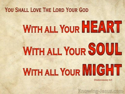 Deuteronomy 6:5 Love The Lord Your God (red)