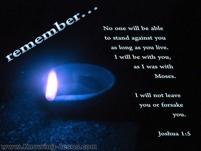 Joshua 1:5 I Will Not Leave You Nor Forsake You (blue)