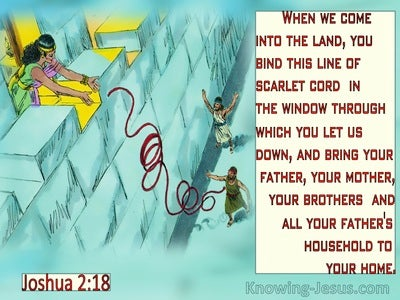 Joshua 2:18  When You Come Into The Land (aqua)