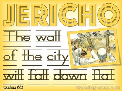 Joshua 6:5 The City Walls WIll Fall Down Flat (yellow)