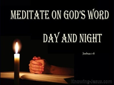 Joshua 1:8 Meditate on Gods Word (pink)