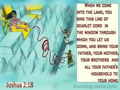 Joshua 2:18  When You Come Into The Land (aqua)